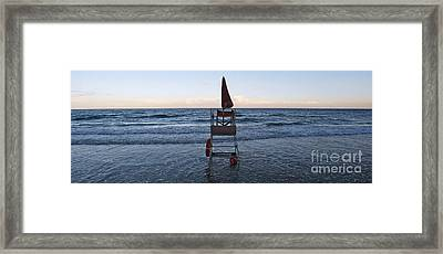 Alassio Sunset Facing East Framed Print