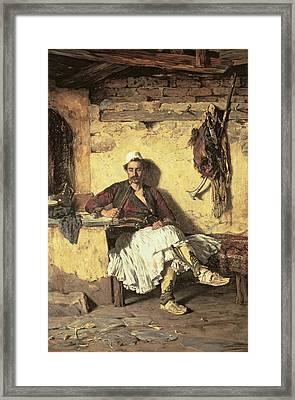 Albanian Sentinel Resting Framed Print by Paul Jovanovic