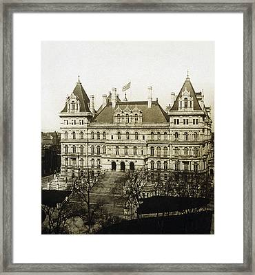 Albany New York - State Capitol Building - C 1900 Framed Print by International  Images
