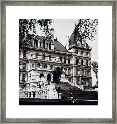 Albany New York - State Capitol Building - C 1903 Framed Print by International  Images