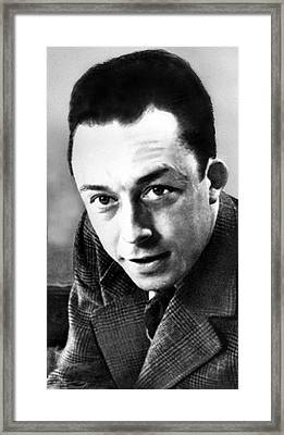 Albert Camus, Author, 1913-1960 Nobel Framed Print by Everett