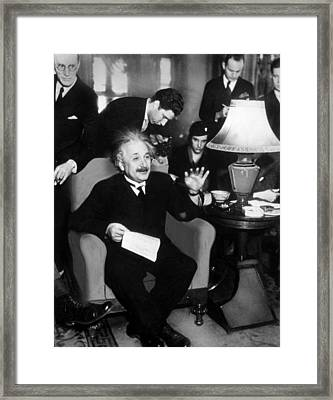 Albert Einstein, 1934 Framed Print