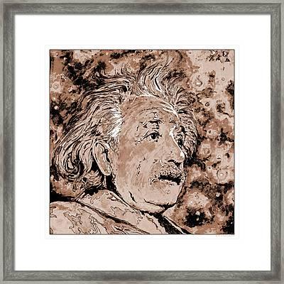 Albert Einstein Framed Print by Detlev Van Ravenswaay