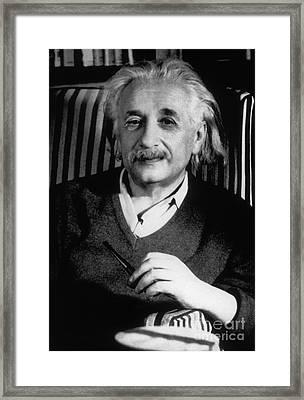 Albert Einstein, German-american Framed Print by Science Source
