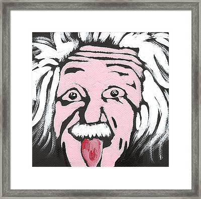 Albert Einstein Framed Print by Jera Sky