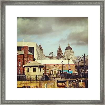#albertdock #liverpool #city #uk Framed Print