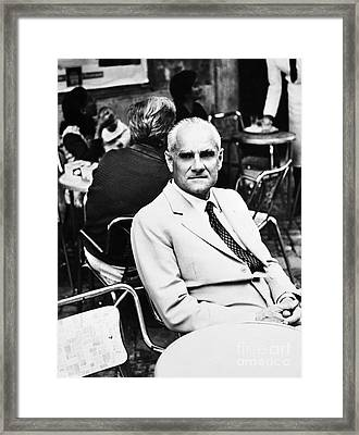 Alberto Moravia (1907-1990) Framed Print