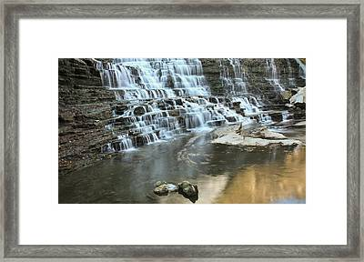 Framed Print featuring the photograph Albion Falls-hamilton-ontario by Nick Mares