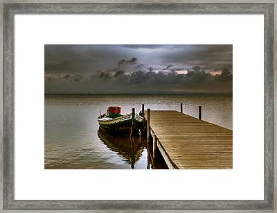 Albufera Before The Rain. Valencia. Spain Framed Print