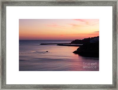 Framed Print featuring the photograph Albuferian Sunset by Lynn Bolt