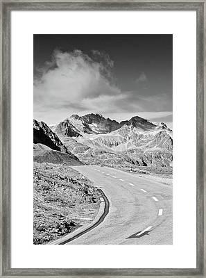 Albula Pass Road Framed Print by daitoZen