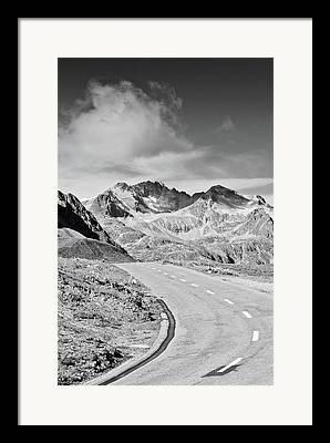 Engadin Valley Framed Prints