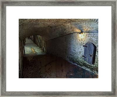 Alcatraz 1866 Tunnel Framed Print by Daniel Hagerman