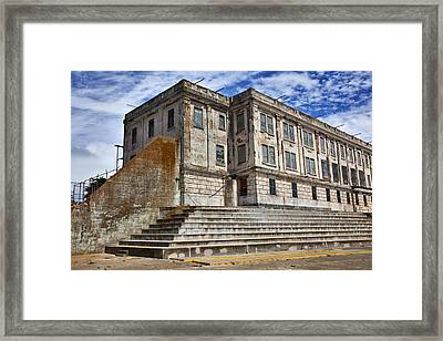 Alcatraz Cellhouse  Framed Print by Garry Gay
