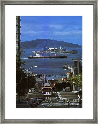 Alcatraz From San Fran Hilltop Framed Print by Paul W Faust -  Impressions of Light
