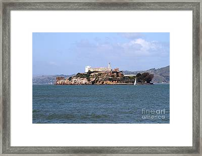 Alcatraz Island In San Francisco California . South Side . 7d14288 Framed Print by Wingsdomain Art and Photography