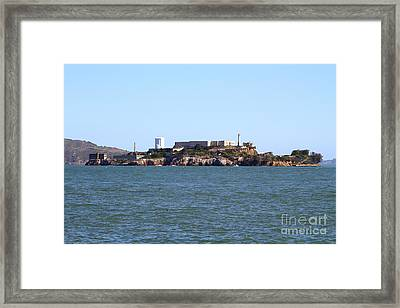 Alcatraz Island In San Francisco California . West Side . 7d14007 Framed Print by Wingsdomain Art and Photography