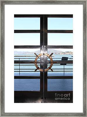 Alcatraz Island The Doors Of The Maritime Museum In San Francisco California . 7d14086 Framed Print by Wingsdomain Art and Photography