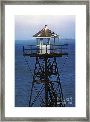 Alcatraz Watch Tower Framed Print by Paul W Faust -  Impressions of Light
