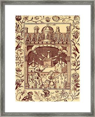 Alchemical Ovens Framed Print by Science Source