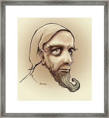 Alchemist Sketch Framed Print by Dorianne Dutrieux