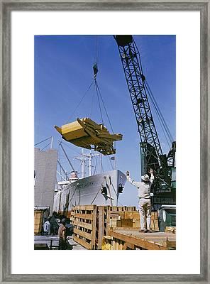 Alcoa Ship Destines For South America Framed Print by Justin Locke