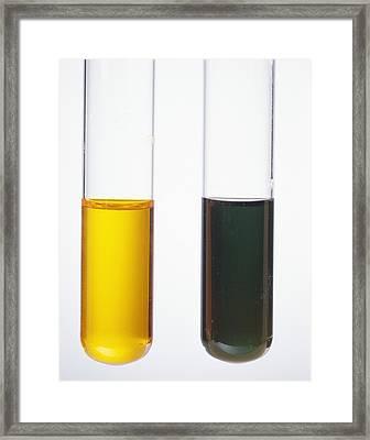 Alcohol Oxidation Framed Print