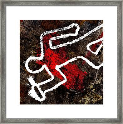 Alcohol Related Death, Conceptual Artwork Framed Print by Stephen Wood