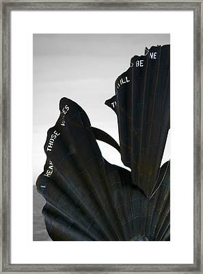 Aldeburgh Scallop Framed Print by Darren Burroughs