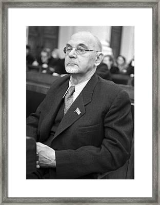 Aleksandr Arbuzov, Soviet Organic Chemist Framed Print by Ria Novosti