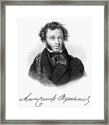Aleksandr Pushkin Framed Print by Granger