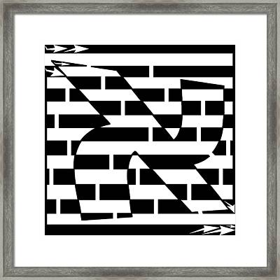 Aleph Maze Framed Print by Yonatan Frimer Maze Artist