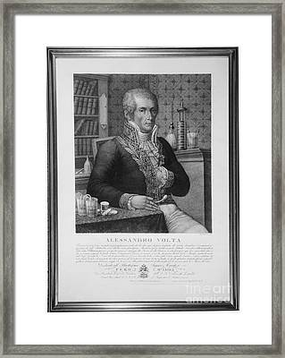 Alessandro Volta, Italian Physicist Framed Print by Omikron