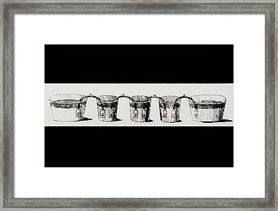 Alessandro Volta's Crown Of Cups Framed Print by