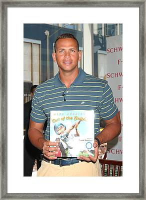 Alex Rodriguez At In-store Appearance Framed Print