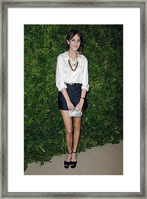 Alexa Chung At Arrivals For Cfda Vogue Framed Print