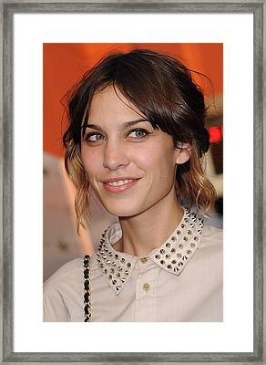Alexa Chung At Arrivals For Inglourious Framed Print