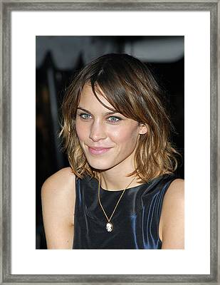 Alexa Chung At Arrivals For Special Framed Print by Everett