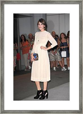 Alexa Chung At Arrivals For The Framed Print