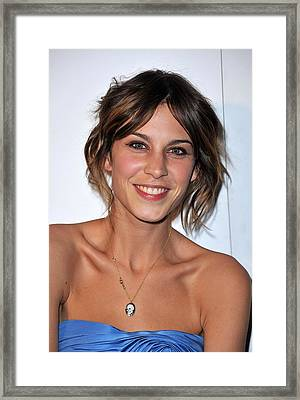 Alexa Chung At Arrivals For The Whitney Framed Print by Everett