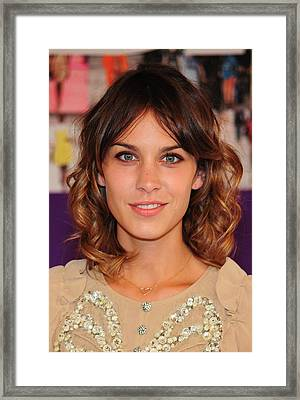 Alexa Chung In Attendance For The 2010 Framed Print by Everett