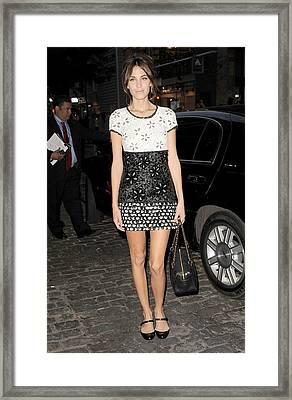 Alexa Chung Wearing A Chanel Dress Framed Print