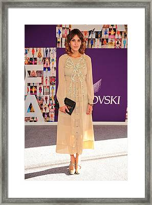 Alexa Chung Wearing A Marc Jacobs Dress Framed Print