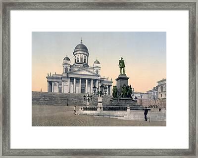 Alexander II Memorial At Senate Square In Helsinki Finland Framed Print by International  Images
