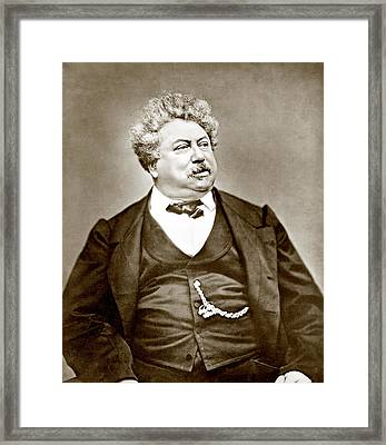 Alexandre Dumas Père 1802-1870 Popular Framed Print by Everett