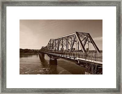 Framed Print featuring the photograph Alexandria Bridge by Josef Pittner