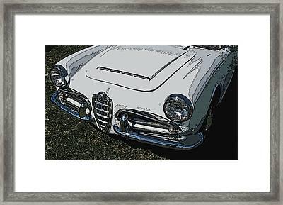 Alfa Romeo Nose Study Framed Print by Samuel Sheats
