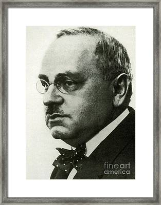 Alfred Adler, Austrian Psychologist Framed Print by Science Source