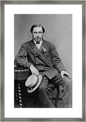 Alfred, Duke Of Saxe-coburg And Gotha Framed Print