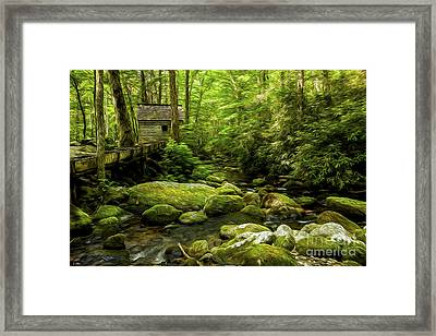 Alfred Reagan's Old Mill Framed Print by Smokey Mountain  Art